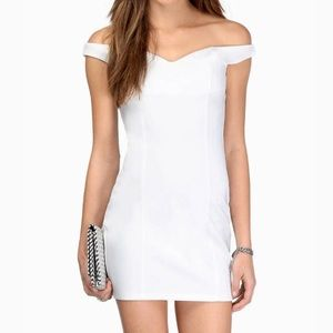Tobi White Off Shoulder Mini Dress *In the Meadows